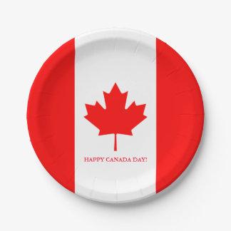 Placas canadienses del fiesta del papel de la platos de papel