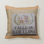 Placas de calle de la almohada de tiro de Madrid