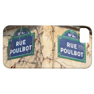 Placas de calle de Poulbot de la ruda de París iPhone 5 Funda