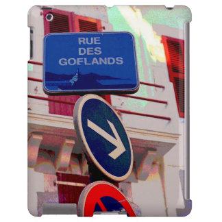 Placas de calle francesas funda para iPad