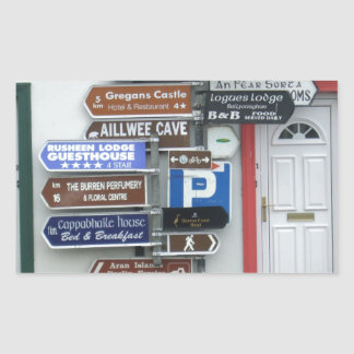 Placas de calle irlandesas pegatina rectangular