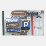 Placas de calle irlandesas rectangular pegatinas