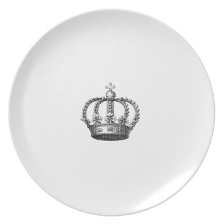 Placas de cena de la melamina de la corona platos