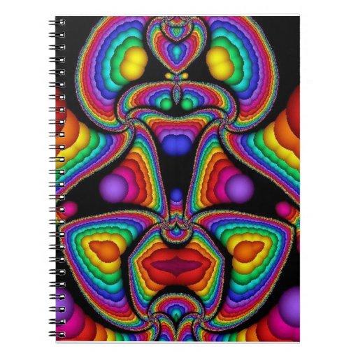 Placas de cerámica del arte abstracto intrépido ma libretas espirales
