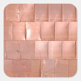 Placas de cobre pegatina cuadrada