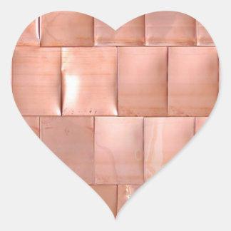Placas de cobre pegatina en forma de corazón