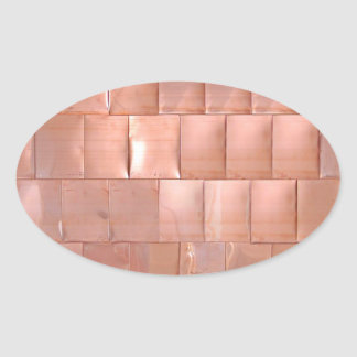 Placas de cobre pegatina ovalada