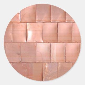 Placas de cobre pegatina redonda