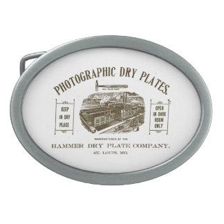 Placas de cristal fotográficas hebilla de cinturon