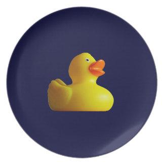 Placas de goma amarillas de Duckie Platos De Comidas