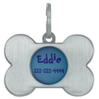 Placas de identificación adaptables - plata pulida placa de nombre de mascota