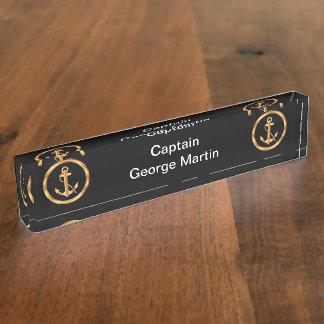 Placas de identificación con clase de capitán Desk