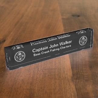 Placas de identificación de capitán Desk del barco