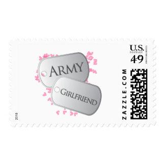 Placas de identificación de la novia del ejército estampilla