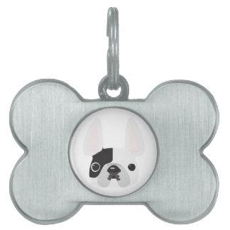 Placas de identificación del dogo francés placa de mascota