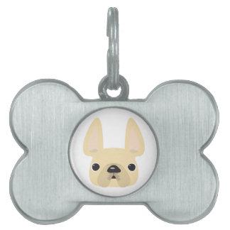 Placas de identificación del dogo francés placa mascota