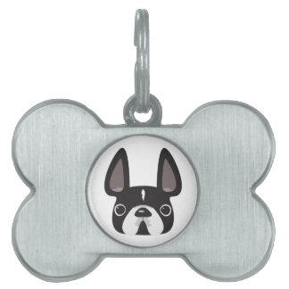 Placas de identificación del dogo francés placas mascota