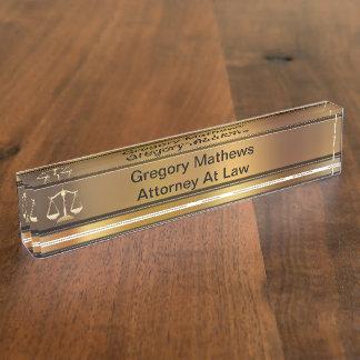 Placas de identificación ejecutivas del escritorio