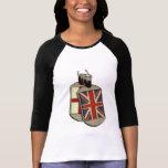 Placas de identificación inglesas camisetas