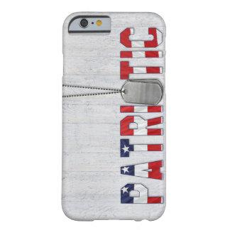 Placas de identificación militares patrióticas funda de iPhone 6 barely there