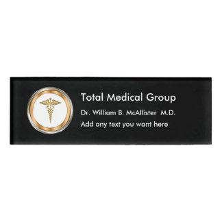 Placas de identificación profesionales médicas etiqueta con nombre