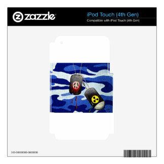 Placas de identificación skins para iPod touch 4G