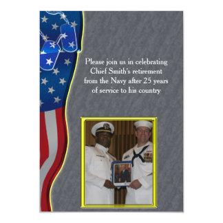 Placas de identificación y retiro de los militares invitación 12,7 x 17,8 cm