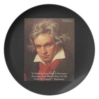 Placas de la cita del amor del cielo de Beethoven  Plato De Cena