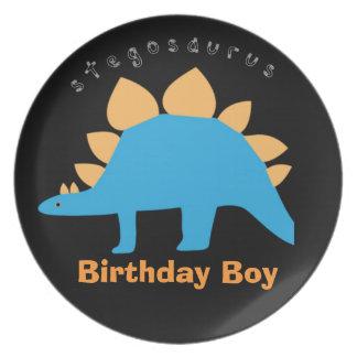 Placas de la melamina del dinosaurio del muchacho  platos para fiestas