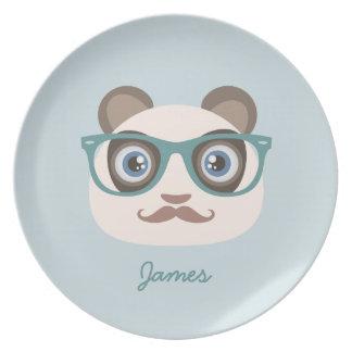 Placas de la panda del inconformista plato