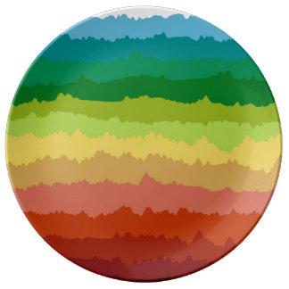 Placas de la porcelana del espectro platos de cerámica