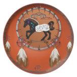 Placas de las flechas del caballo n plato de cena