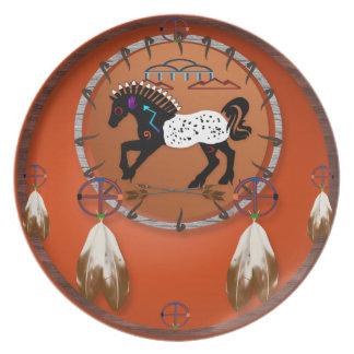 Placas de las flechas del caballo n platos para fiestas