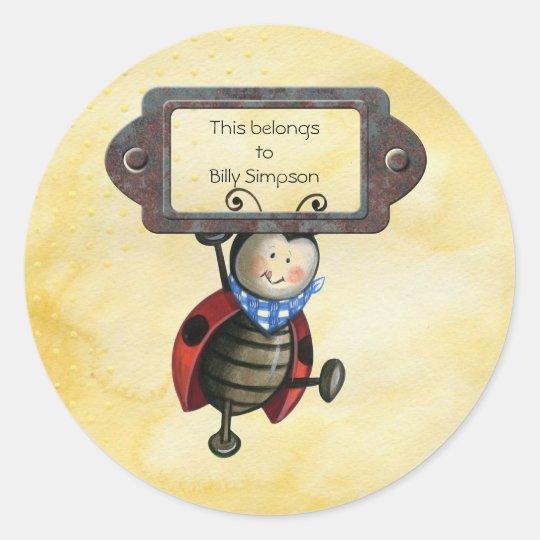 Placas de libro conocidas pegatina redonda