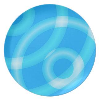 """Placas de los """"círculos azules"""" plato de comida"""
