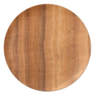 Placas de madera de Koa Plato De Cena