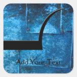 Placas de metal azules calcomanías cuadradases