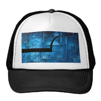 Placas de metal azules gorra