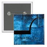 Placas de metal azules pin