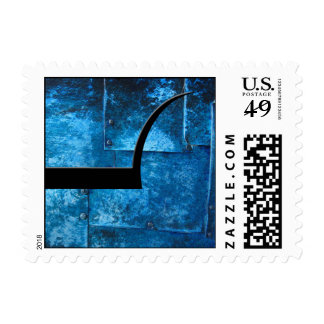 Placas de metal azules