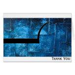 Placas de metal azules tarjeton