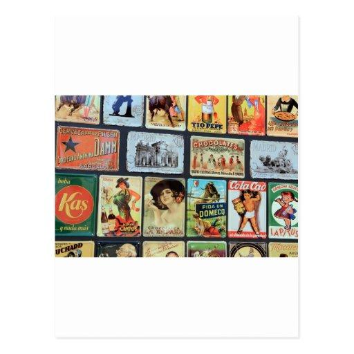 Placas de metal españolas tarjeta postal