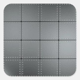 Placas de metal y remaches pegatina cuadradas personalizadas