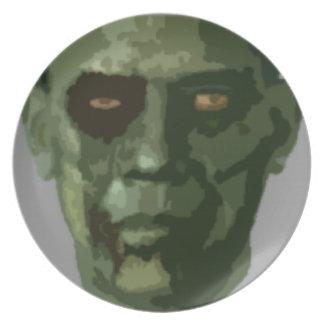 Placas de Obama del zombi de Halloween Platos