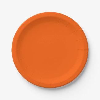 Placas de papel anaranjadas ricas plato de papel de 7 pulgadas