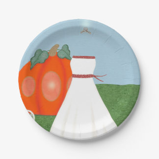 Placas de papel bonitas de princesa Bridal Shower Plato De Papel De 7 Pulgadas