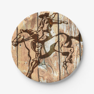 Placas de papel bucking occidentales del vaquero platos de papel