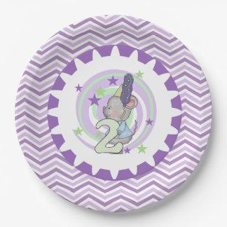 Placas de papel cumpleaños lindo del ratón del 2do platos de papel