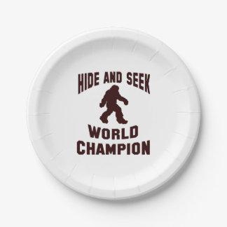 Placas de papel de Bigfoot del campeón del mundo Plato De Papel De 7 Pulgadas