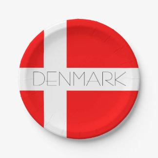 ¡Placas de papel de Dinamarca! Platos De Papel